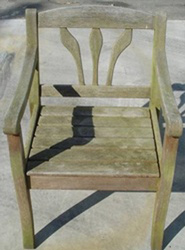 Sandstrahlen Stuhl vorher